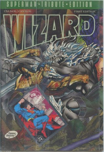 Wizard Superman Tribute Edition Foil Cover Doomsday 1st Edition