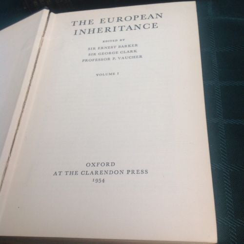 THE EUROPEAN INHERITANCE - First Edition 3 VOLUMES