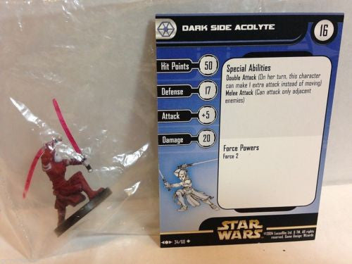 Star Wars Miniatures Clone Strike 34/60 Dark Side Acolyte (U)