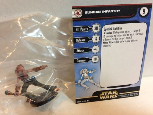 Star Wars Miniatures Clone Strike 14/60 Gungan Infantry (C)