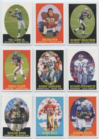 Topps Football 2007 Turn Back the Clock Partial Set Mint/NM ( 17 Cards )