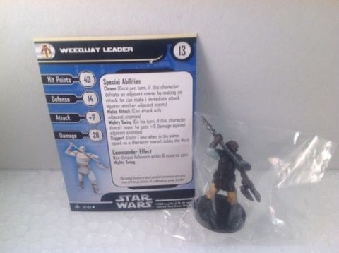 Star Wars Bounty Hunters 50/60 Weequay Leader (U) Miniature