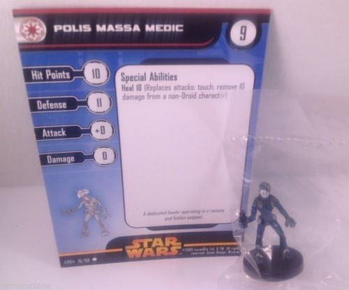 12X Star Wars Revenge of the Sith 16/60 Polis Massa Medic (C) Miniatures