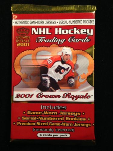 Pacific Crown Royale 2001 NHL Hockey Pack