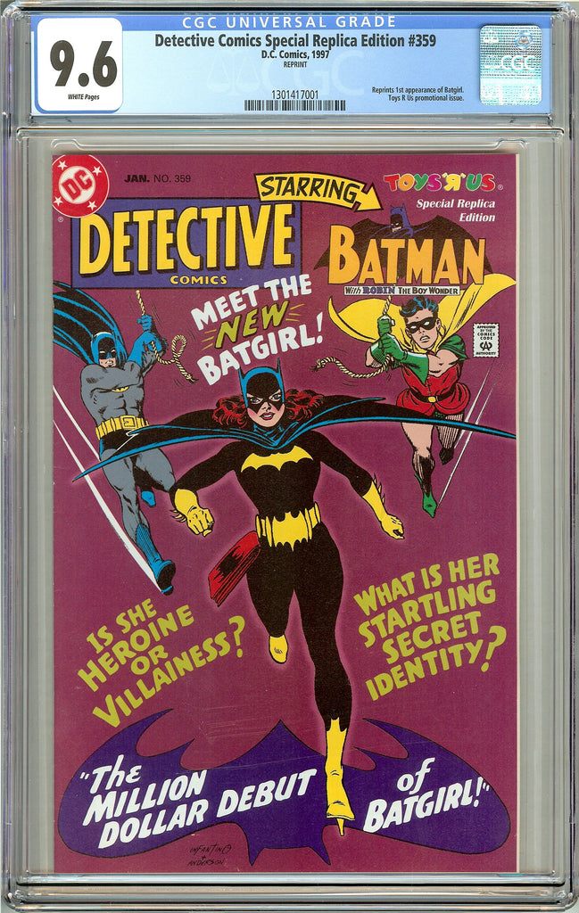 Detective Comics Special Replica Edition #359 CGC 9.6 White Pages 1301417001
