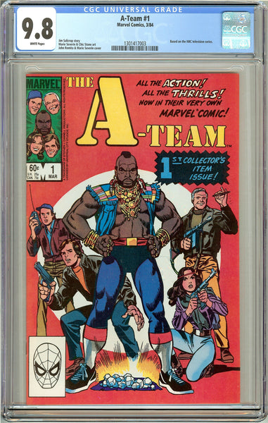 A-Team #1 CGC 9.8 White Pages (1984) 1301417003