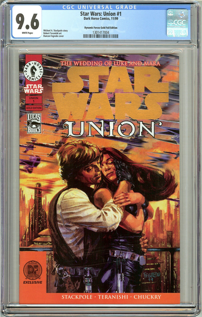 Star Wars Union #1 CGC 9.6 White Pages 1301417004 DF Gold Foil