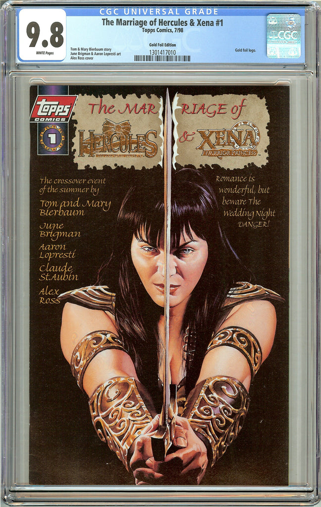 Marriage of Hercules & Xena #1 CGC 9.8 White Pages 1301417010 Gold Foil Edition