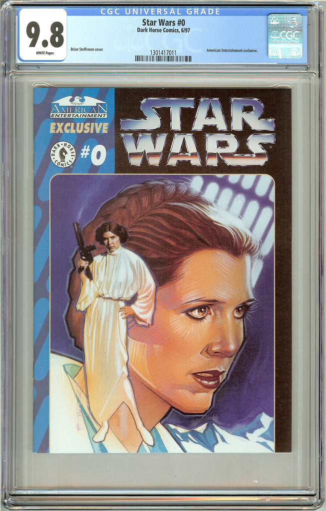 Star Wars #0 CGC 9.8 White Pages (1997) 1301417011 American Entertainment exclus