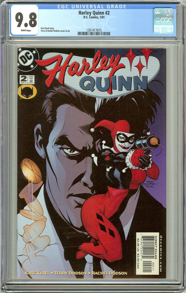 Harley Quinn #2 CGC 9.8 White Pages 1301417015 (2001)