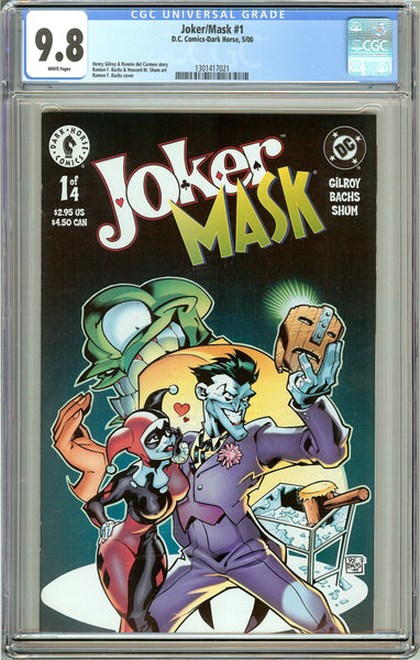 Joker/Mask #1 CGC 9.8 White Pages (Dark Horse 2000) 1301417021