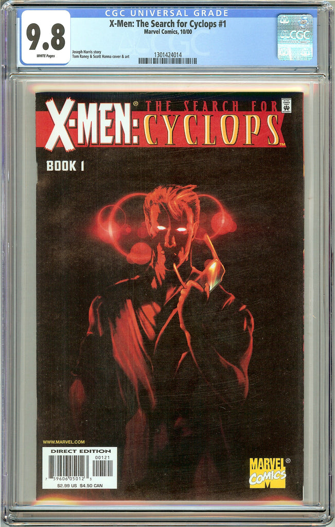 X-Men Search for Cyclops #1 CGC 9.8 White Pages 1301424014