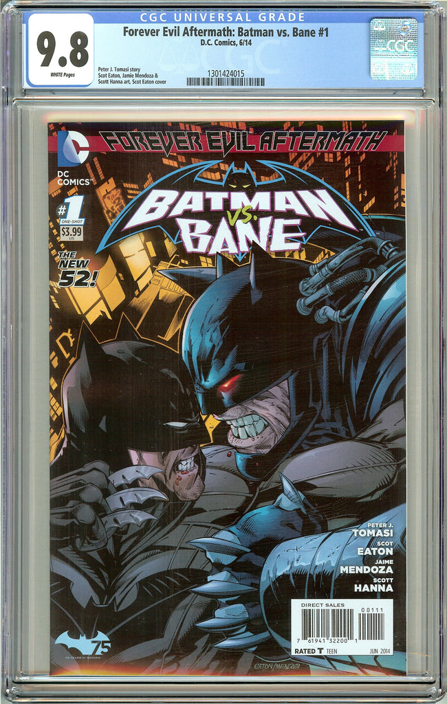 Forever Evil Aftermath Batman vs. Bane #1 CGC 9.8 White Pages 1301424015