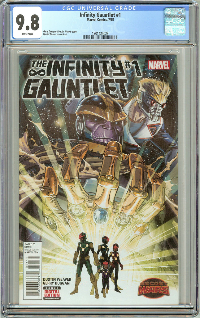 Infinity Gauntlet #1 CGC 9.8 White Pages (2015) 1301424023