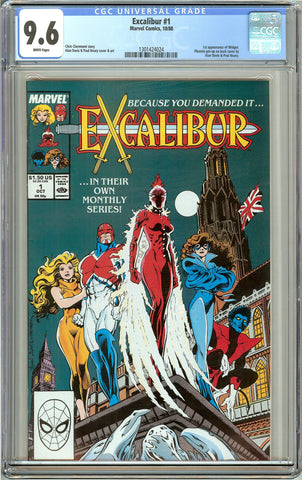 Excalibur #1 CGC 9.6 White Pages (1988) 1301424024