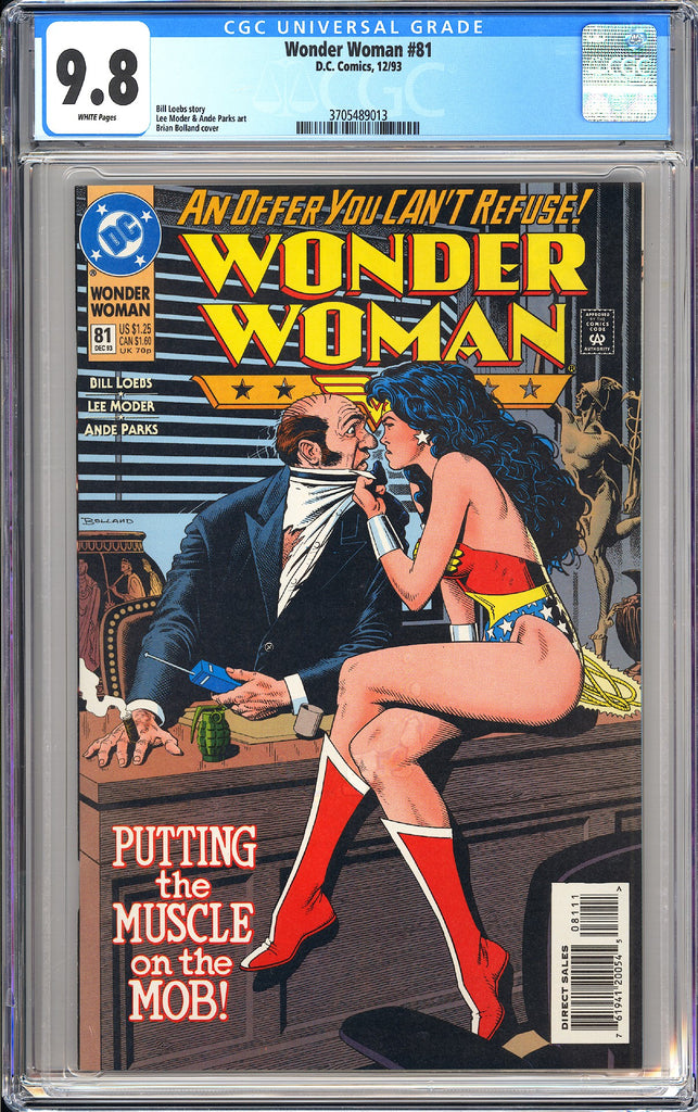 Wonder Woman #81 CGC 9.8 White Pages 3705489013 Brian Boland