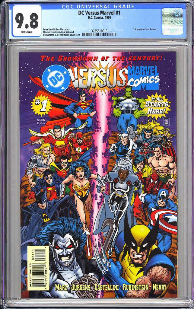 DC Versus Marvel #1 CGC 9.8 White Pages 1996 3725610013 1st App Access