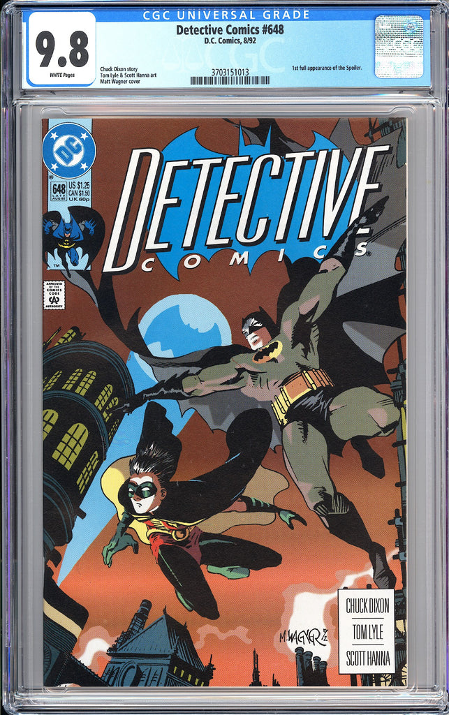 Detective Comics #648 CGC 9.8 White Pages (1992) 3703151013