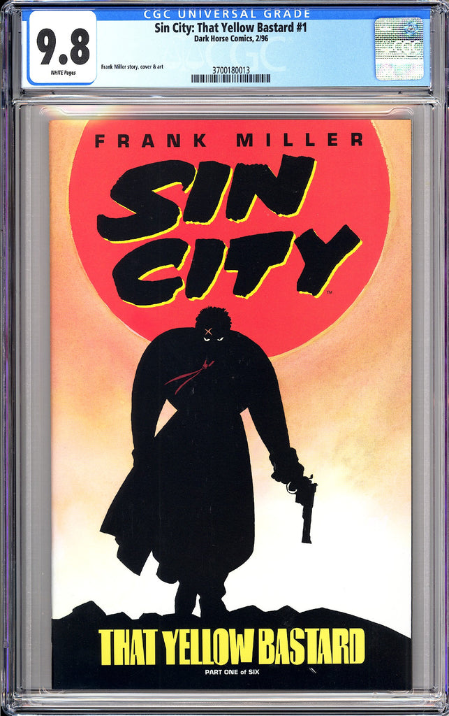 Sin City That Yellow Bastard #1 CGC 9.8 White Pages 3700180013 (1996)