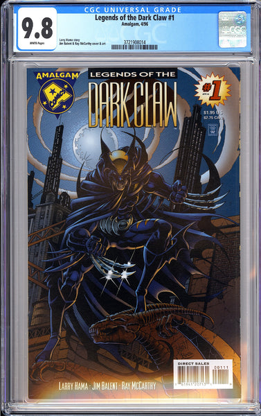 Legends of the Dark Claw #1 CGC 9.8 WP 1996 3721908014 Amalgam