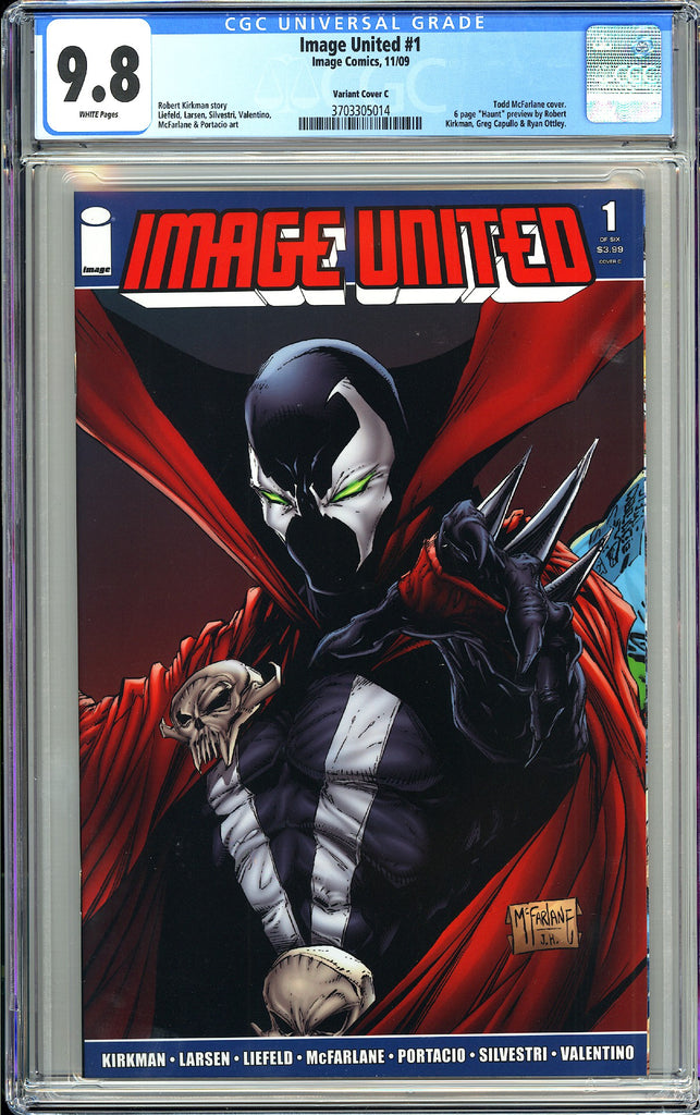 Image United #1 CGC 9.8 White Pages 2009 3703305014 Variant Cover C
