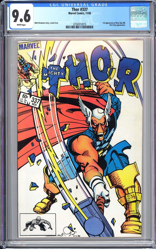 Thor #337 CGC 9.6 White Pages 1983 3724312015 1st Beta Ray Bill