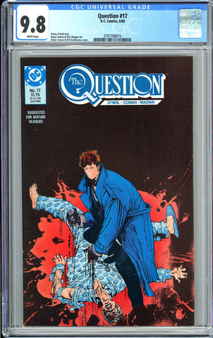 Question #17 CGC 9.8 WP (1988) 3707768015 1st Rorschach from Watchmen