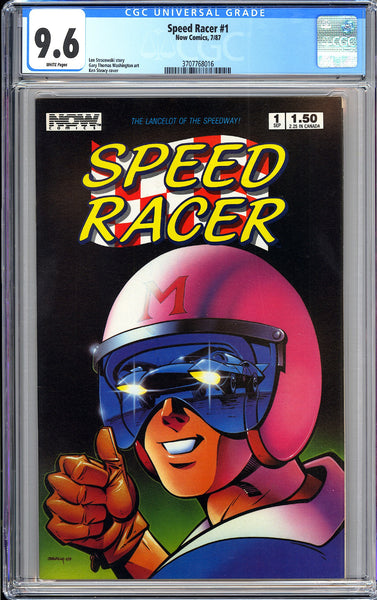 Speed Racer #1 CGC 9.6 White Pages (1987) 3707768016