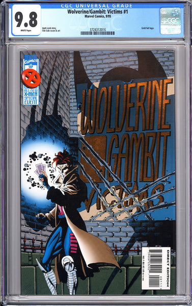 Wolverine/Gambit: Victims #1 CGC 9.8 White Pages 1995 3724312016 Gold foil logo