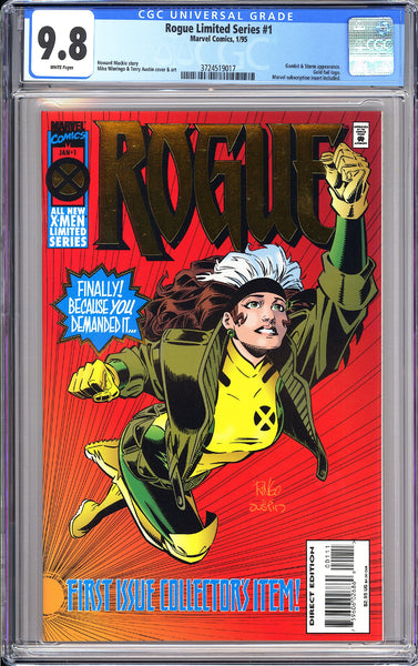 Rogue Limited Series #1 CGC 9.8 WP 1995 3724519017 Gold foil Gambit & Storm