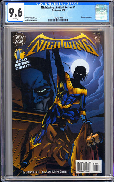 Nightwing Limited Series #1 CGC 9.6 White Pages 1995 3700181017 Batman