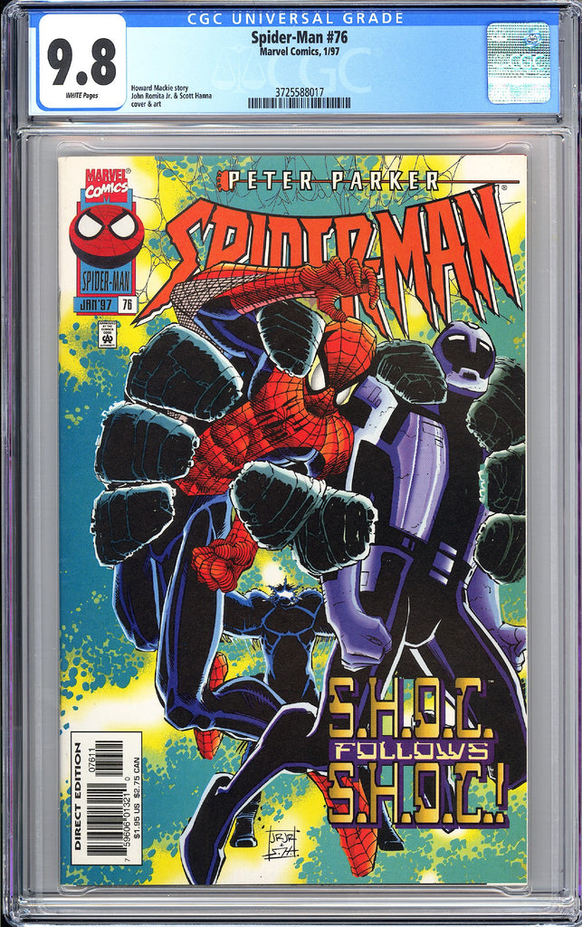 Spider-Man #76 CGC 9.8 WP 1997 3725588017 1st Crown Morbius Movie S.H.O.C