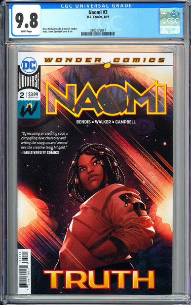 Naomi #2 CGC 9.8 White Pages (2019) 3700176017