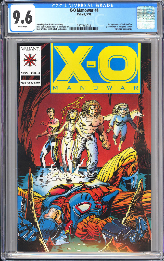 X-O Manowar #4 CGC 9.6 White Pages 1992 3707243018 1st Shadowman