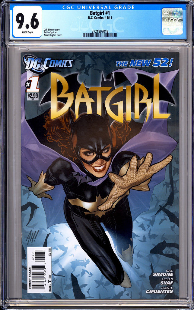 Batgirl #1 CGC 9.6 White Pages 2011 3721897018 New 52! Adam Hughes Cover