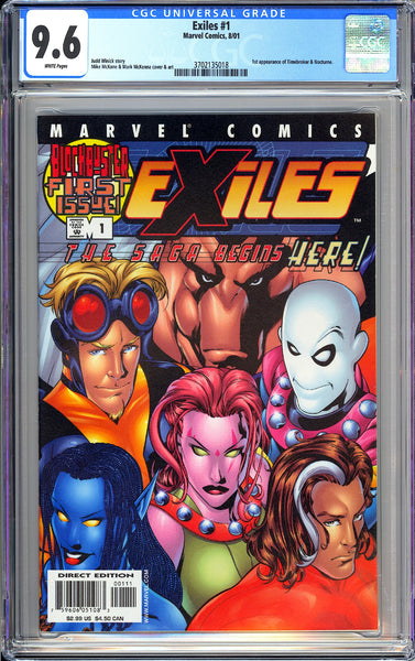 Exiles #1 CGC 9.6 White Pages 2001 3702135018 1st Timebroker & Nocturne