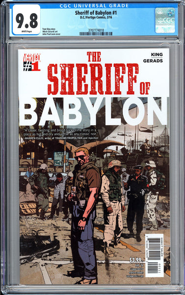 Sheriff of Babylon #1 CGC 9.8 White Pages (2016) 3707774018