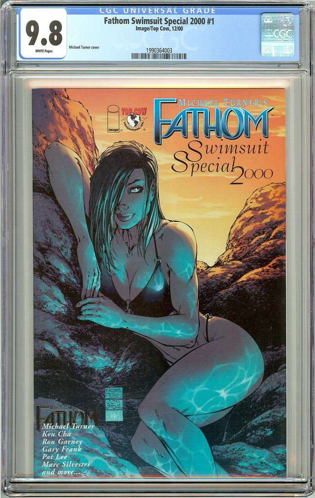 Fathom Swimsuit Special 2000 #1 CGC 9.8 White Pages 1990364003 Michael Turner