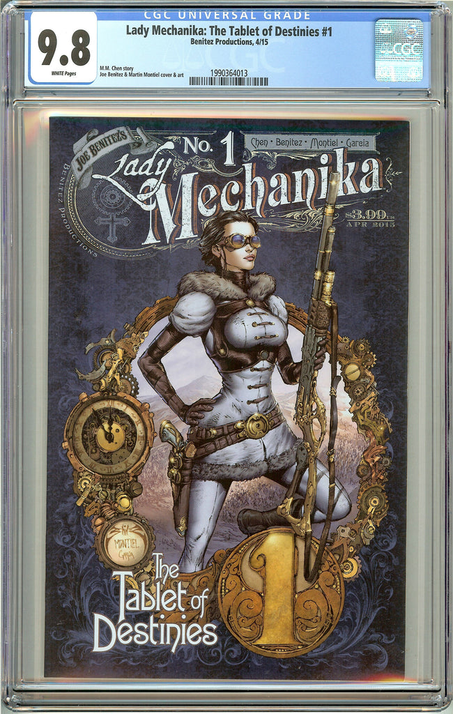 Lady Mechanika Tablet of Destinies #1 CGC 9.8 White Pages 1990364013