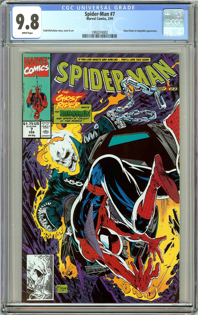 Spider-Man #7 CGC 9.8 White Pages (1991) 1992074002