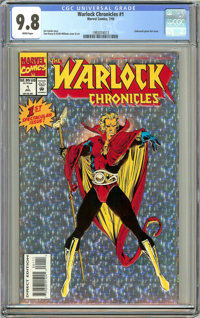 Warlock Chronicles #1 CGC 9.8 White Pages (1993) 1299629020