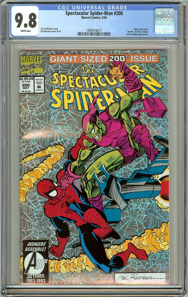 Spectacular Spider-Man #200 CGC 9.8 White Pages (1993) 1992074017