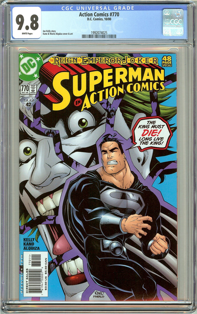 Action Comics #770 CGC 9.8 White Pages (2000) 1992074025