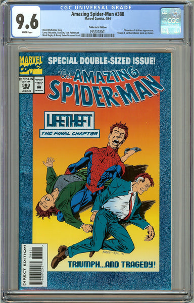 Amazing Spider-Man #388 CGC 9.6 White Pages 1992078001 Collectors Ed