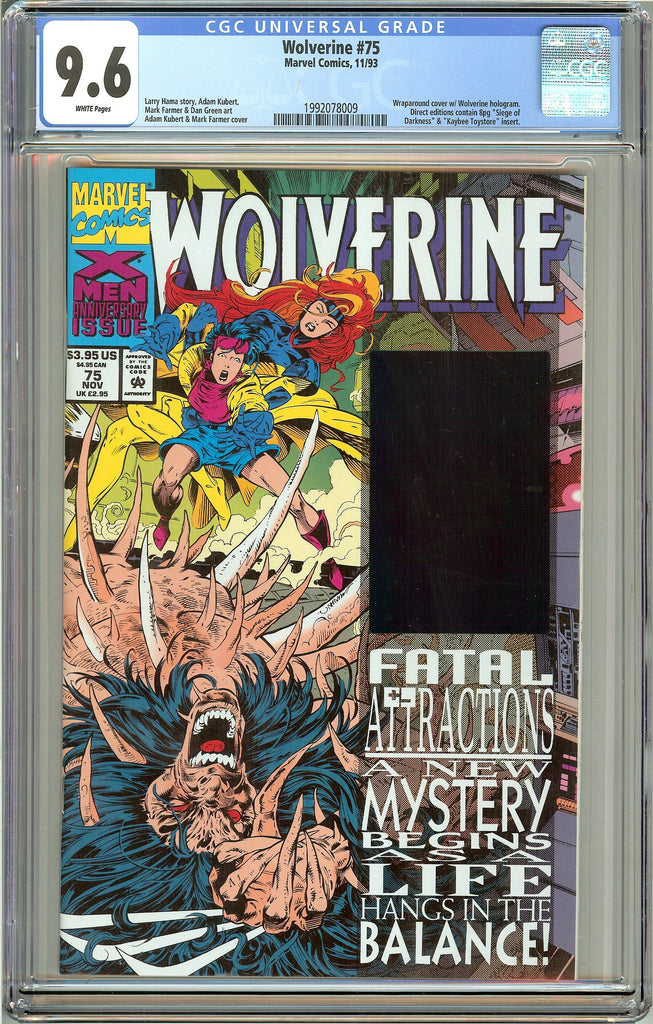 Wolverine #75 (1993) CGC 9.6 White Pages 1992078009