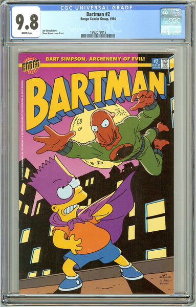 Bartman #2 CGC 9.8 White Pages (1994) 1992078013