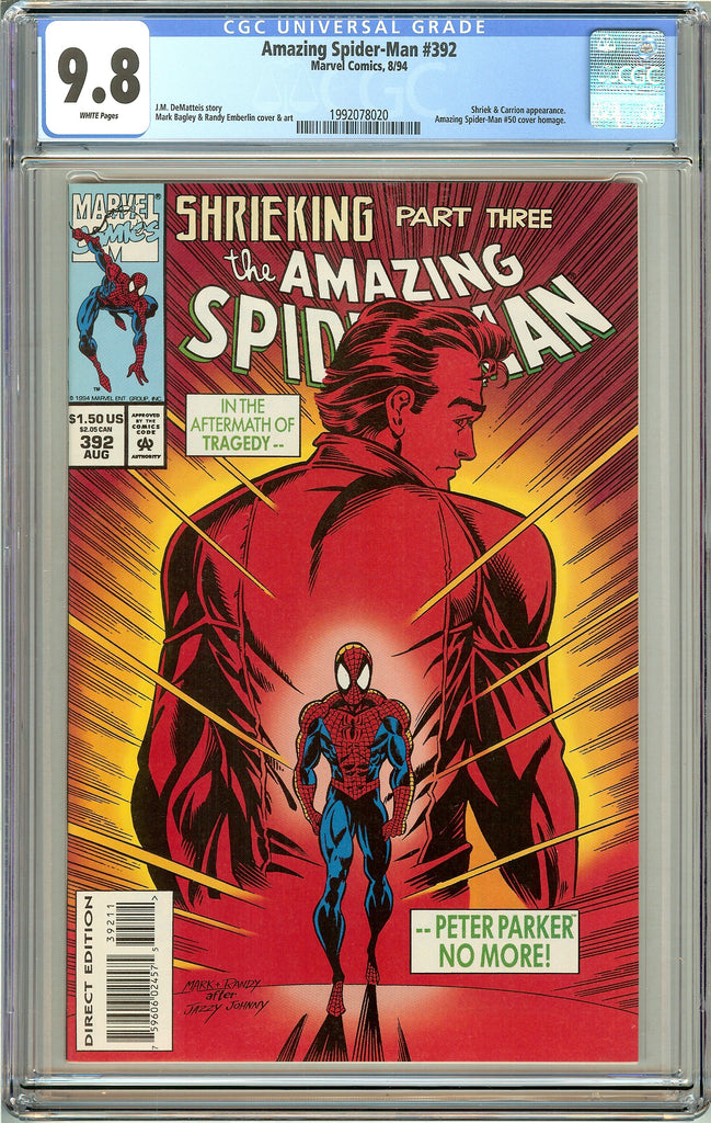 Amazing Spider-Man #392 CGC 9.8 White Pages (1994) 1992078020