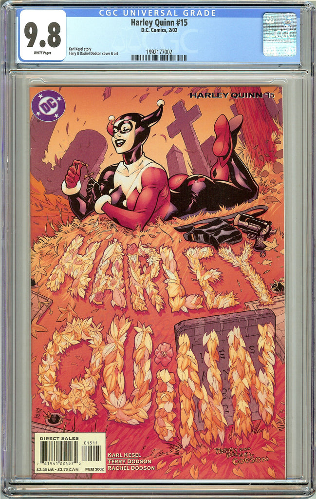Harley Quinn #15 CGC 9.8 White Pages 1992177002 (2002)