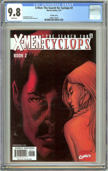 X-Men Search for Cyclops #2 CGC 9.8 White Pages 1992177010 Variant Cover