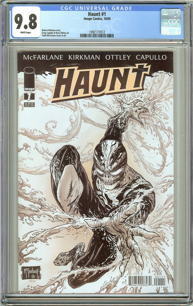 Haunt #1 CGC 9.8 White Pages (2009) 1992177012